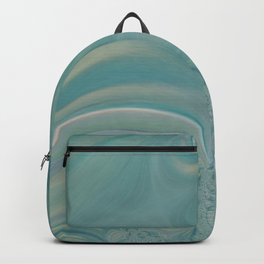 Soft Green Fractal 2 - Abstract Art by Fluid Nature Backpack