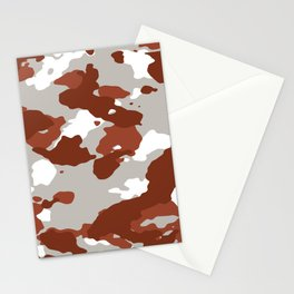 Brown and Grey Camo Stationery Cards