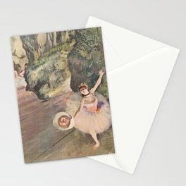 Dancer With A Bouquet Of Flowers The Star Of The Ballet By Edgar Degas | Reproduction | Famous Frenc Stationery Cards