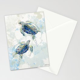 Swimming Together 2 - Sea Turtle  Stationery Cards