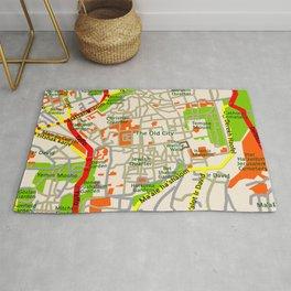 Jerusalem map design Rug