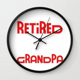 I Am Not Retired I Am A Professional Grandpa Funny Gift Idea Funny Retirement Gift Wall Clock