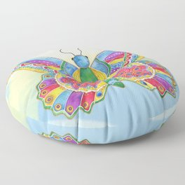 Butterfly Pizzazz Floor Pillow