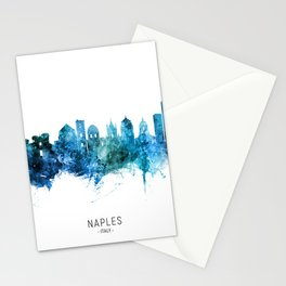 Naples Italy Skyline Stationery Cards