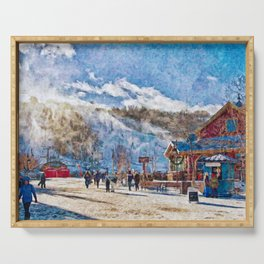 Blue Mountain ski resort, Ontario Serving Tray