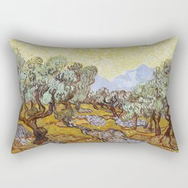 Olive Trees by Vincent van Gogh Rectangular Pillow