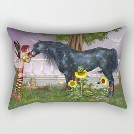 The Last Black Unicorn Rectangular Pillow