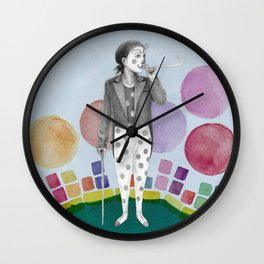 clown and lots of dots Wall Clock
