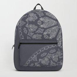 Ultimate Gray Rose Window Backpack