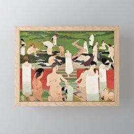 Felix Edouard Vallotton - Summer Evening Bathing - Digital Remastered Edition Framed Mini Art Print