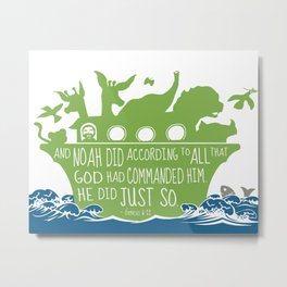 Noahs Ark - Bible - And Noah Did According to All that God had Commanded him Metal Print