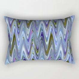 Zigzag Blue Rectangular Pillow