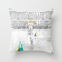 Luxembourg Gardens - Paris Throw Pillow