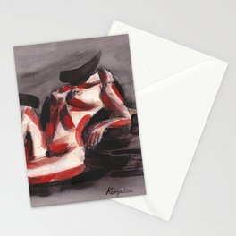 KargacinArt - Abstract Nude - Original Watercolor Painting Stationery Cards