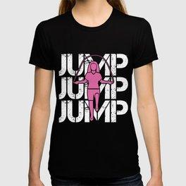 Jump Rope Girl Athlet Fitness Rope Skipping Hobby T-shirt
