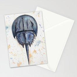 Horseshoe Crab Blues Stationery Cards