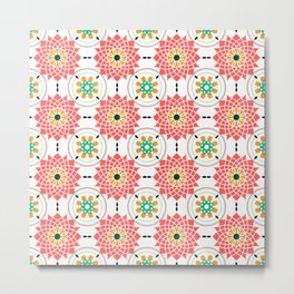 morrocan pink mandala pattern no4 Metal Print