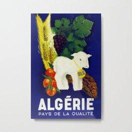 Algerie Vintage Travel Poster Metal Print