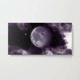 Grey Planet Metal Print