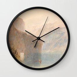 """J.M.W. Turner """"Tell's Chapel, Lake Lucerne"""" Wall Clock"""
