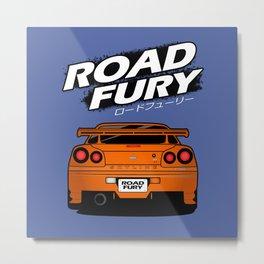 Road Fury Metal Print