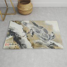 Kawanabe Kyosai - Eagle Holding Small Bird - Digital Remastered Edition Rug