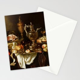 Jan Davidsz. de Heem Still Life With Crab And Fruit Stationery Cards