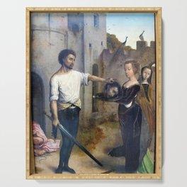 Juan de Flandes - Decollation de saint Jean-Baptiste Serving Tray