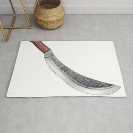 Bolo Harm Cutting Tool Machete Danger Harmful Traditional Rug