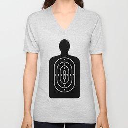 Human Shape Target Unisex V-Neck