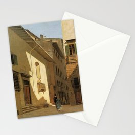 Santa Maria De Bardi 1870 By Telemaco Signorini | Reproduction | Italian Painter Stationery Cards
