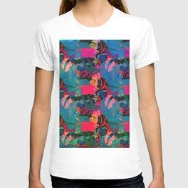 Papercut Floral Dark T-shirt