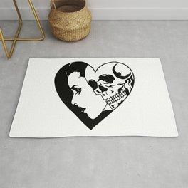 Skeleton Is My Valentine Rug