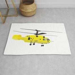 Yellow Helicopter Rug