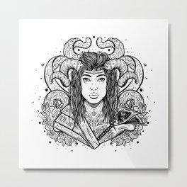 Viking Solider (Daily Sketch Series) Metal Print