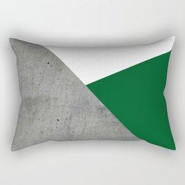 Concrete Festive Green White Rectangular Pillow