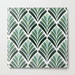 Art Deco Palm  Metal Print