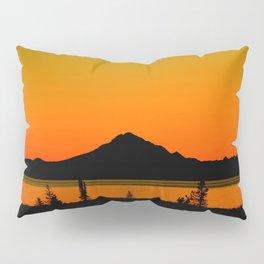 Sunset Silhouette, Mt. Redoubt - Alaska Pillow Sham