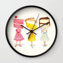 Cake Head Pin-Ups Wall Clock