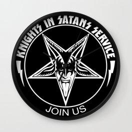 Knights In Satan's Service - Join Us Wall Clock
