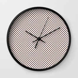Root Beer Polka Dots Wall Clock