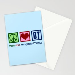 Peace Love Occupational Therapy Stationery Cards