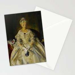 """George Wesley Bellows """"Mrs. T. in Cream Silk, No.2"""" Stationery Cards"""