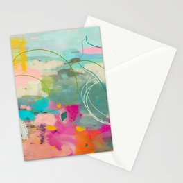 mixed abstract brush color study art 1 Stationery Cards