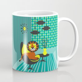 Atomic Leo from the 70s poster Coffee Mug