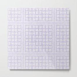 Nappy Faux Velvet Framed Weave in Pastel Lilac Reversed Metal Print