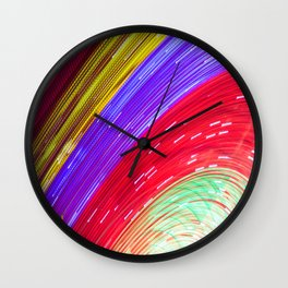 Painted by light Wall Clock