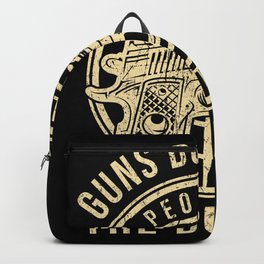 Guns Don't Kill People Quote Backpack