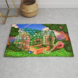 Greenhouse dragon Rug