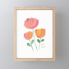 Be Here Florals  Framed Mini Art Print